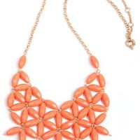 Red Flowers Collar Chain Necklace - Sheinside.com
