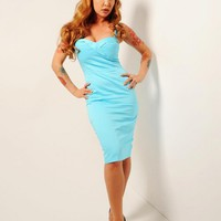 The Vamp Dress in Baby Blue | Pinup Girl Clothing