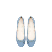 LEATHER BALLERINA - Shoes - Woman - New collection | ZARA United States