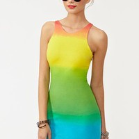 Zena Dress - Rainbow in What's New at Nasty Gal