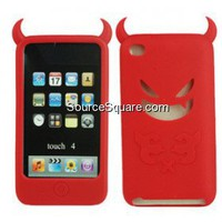 Apple iPod Touch 4G Red Devil Flexible Silicone Case Skin - SourceSquare.com
