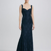 Lace Gown with Sweetheart Neckline