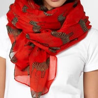 Zebra Crossing Scarf | Shop Hats, Scarves &amp; Gloves Now | fredflare.com