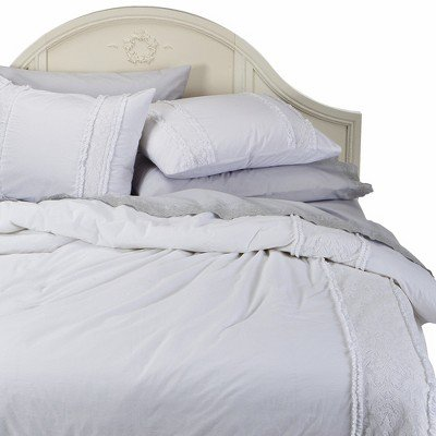 Simply Shabby Chic® Pieced Lace Mesh Duvet Set - White
