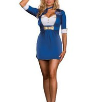 Dreamgirl Sexy Pilot Adult Flight Attendant Halloween Costume