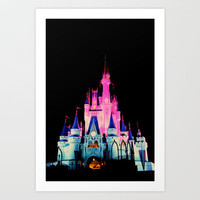 disney castle Art Print by Molly Peach