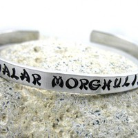 Valar Morghulis Bracelet - Hand Stamped Game of Thrones Cuff customizable | foxwise - Jewelry on ArtFire