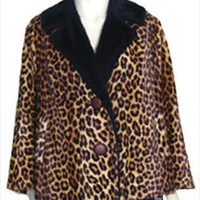 Vintage Clothing Cheetah Animal Print Faux Fur Coat