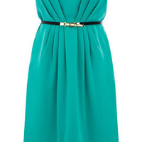 Oasis Shop | Turquoise Ollie Bandeau Dress | Womens Fashion Clothing | Oasis Stores UK