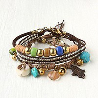 Charm and Bead Bracelet Set at Free People Clothing Boutique