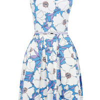 Oasis English Country Garden | Multi Blue Poppy Print Dress | Womens Fashion Clothing | Oasis Stores UK