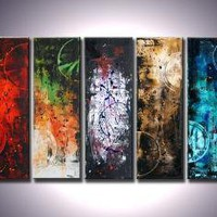 CUSTOM PAINTING 50x30 ABSTRACT PAINTING MODERN by adrianaoancia