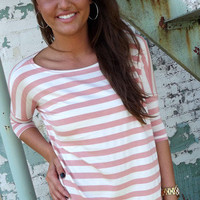 Mauve Striped Piko | The Rage