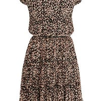 Oasis All Dresses | Animal Pleated Belted Dress | Womens Fashion Clothing | Oasis Stores UK