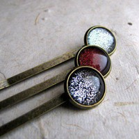 Rustic Gems Hair Pins Set