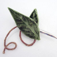 Leaf & Vine Hair Clip by Sweet Little Sparrow