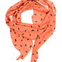 Skinny Secretary Scarf: Coral Lightning - $9.99 : Spotted Moth, Chic and sweet clothing and accessories for women