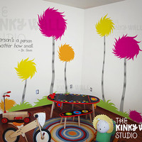 Children Wall Decals Wall Sticker  Lorax Truffula by KinkyWall