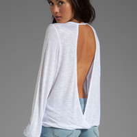 Blue Life Criss Cross My Heart Top in White from REVOLVEclothing.com