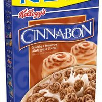 Cinnabon Cereal, Crunchy Cinnamon, 9-Ounce Boxes (Pack of 4)