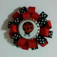 Adorable ladybug bow