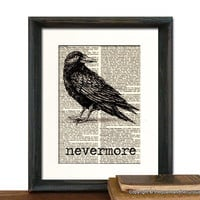 Edgar Allan Poe Nevermore Raven Art Print by QuaintandCurious