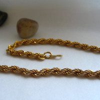 Vintage 18K Gold-Filled Twisted Bracelet