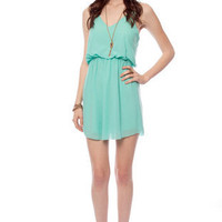 Square One Tank Dress in Seafoam :: tobi