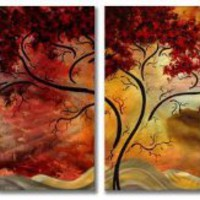 51x24 Megan Duncanson Passionate Light Contemporary Metal Wall Art, Modern Home Décor, Abstract Wall Sculpture