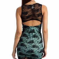 lace overlay tank dress $21.30 in MINT ORANGE - Dressy | GoJane.com
