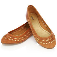 Oasis Shop | Tan Leather Ballerina Pumps | Womens Fashion Clothing | Oasis Stores UK