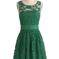BB Dakota When the Night Comes Dress in Pine | Mod Retro Vintage Dresses | ModCloth.com