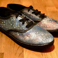 Galaxy/Cosmic/Nebula sneakers by Wonderfuloriginals on Etsy