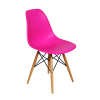 Mid-Century Slope Chair - Fuchsia