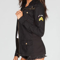 FULL TILT Women Twill Military Jacket