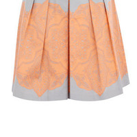 Oasis Skirts | Mid Grey Lace Tile Print Skirt | Womens Fashion Clothing | Oasis Stores UK