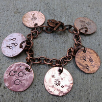 Hand Stamped My Little Pony Cutie Mark Charm Bracelet -Made to Order-