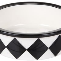 Melia Pet Harlequin Ceramic Dog Bowl - Best Price