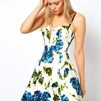 ASOS Full Circle Dress With Floral Print