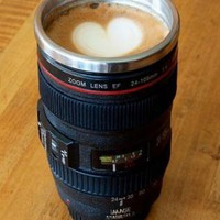 Creative Stainless Steel Camera Lens Mug