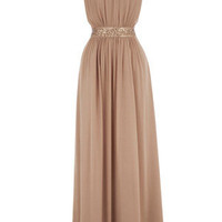 Camel Begonia Maxi Dress