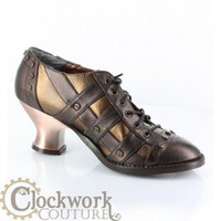Jade Steampunk Oxford - 2 colors - Ankle Boots - Ladies - Footwear