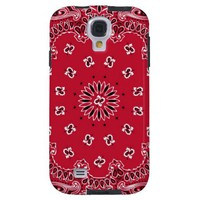 Red Bandana Samsung Galaxy S4 Vibe Case from Zazzle