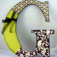 18 Wooden Letter Customized to your colors -- Choose a letter | WagsCreations - Housewares on ArtFire