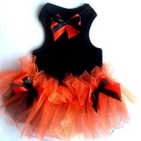 Dog Clothes Halloween Dog Tutu Orange and Black Photo Prop