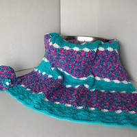 Toddler Shell Pattern Afghan and Sun Hat by SnugableTouches