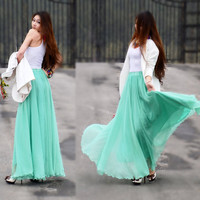 Chiffon Maxi SkirtSpring Long Skirt Maxi Dress by dresstore2000