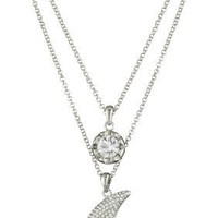 "ABS By Allen Schwartz ""High Shine"" Silver-Tone Charm Pendant Necklace"