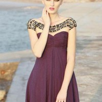 Purple Prom Dress - Purple Sweetheart Evening Dress With | UsTrendy