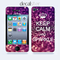 iPhone 4 Skin &amp; iPhone 4 Decal Keep Calm Sparkle by Decalster